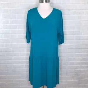 Eileen Fisher Tencel Crepe Drop-Waist Dress New M